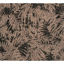 AS Création florale Mustertapete in Vintage Optik Borneo Tapete metallic schwarz 322631 10,05 m x 0,53 m