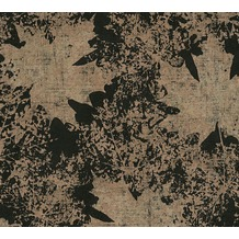 AS Création florale Mustertapete in Vintage Optik Borneo Tapete metallic schwarz 322641 10,05 m x 0,53 m