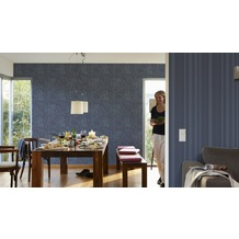 AS Création florale Mustertapete New Look Vliestapete blau grau 10,05 m x 0,53 m
