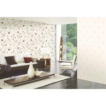 AS Création florale Mustertapete New Orleans Strukturprofiltapete beige metallic schwarz 10,05 m x 0,53 m