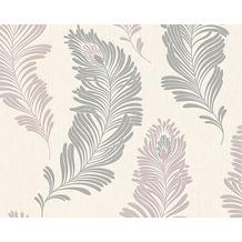 AS Création florale Mustertapete New Orleans Strukturprofiltapete creme grau metallic 305093 10,05 m x 0,53 m