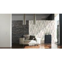 AS Création florale Mustertapete New Orleans Strukturprofiltapete creme grau metallic 10,05 m x 0,53 m