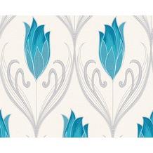 AS Création florale Mustertapete New Orleans Strukturprofiltapete creme grün metallic 303183 10,05 m x 0,53 m