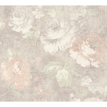 AS Création florale Mustertapete Secret Garden Tapete braun creme rot 336042 10,05 m x 0,53 m