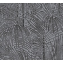 AS Création florale Mustertapete Secret Garden Tapete grau metallic schwarz 336061 10,05 m x 0,53 m
