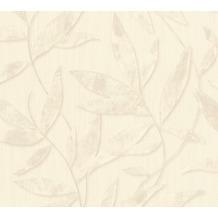 AS Création florale Mustertapete Siena Tapete grau metallic weiß 328807