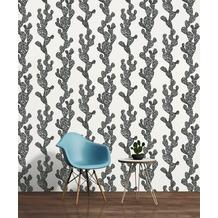 AS Création florale Mustertapete Urban Flowers Papiertapete grau schwarz weiß 10,05 m x 0,53 m