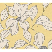 AS Création florale Mustertapete Urban Flowers Tapete creme gelb schwarz 327951 10,05 m x 0,53 m