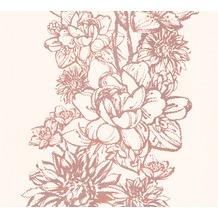 AS Création florale Mustertapete Vision Vliestapete beige metallic orange 307061 10,05 m x 0,53 m