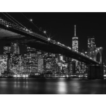 AS Création Fototapete Brooklyn Bridge 130 g Vlies schwarz weiß 403705 3,36 m x 2,60 m