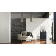 AS Création grafische Mustertapete New Orleans Strukturprofiltapete creme grau metallic 10,05 m x 0,53 m