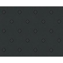 AS Création grafische Mustertapete New Orleans Strukturprofiltapete metallic schwarz 303193 10,05 m x 0,53 m