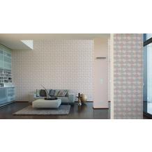 AS Création grafische Mustertapete Ökotapete Scandinavian Style beige metallic rosa 10,05 m x 0,53 m