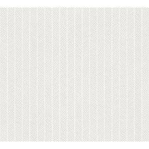 AS Création grafische Mustertapete Ökotapete Scandinavian Style grau metallic weiß 341344 10,05 m x 0,53 m
