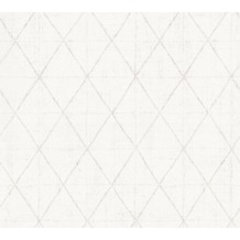 AS Création grafische Mustertapete Ökotapete Scandinavian Style grau metallic weiß 341377 10,05 m x 0,53 m