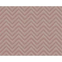 AS Création grafische Mustertapete Soraya Tapete grau rot 306551 10,05 m x 0,53 m