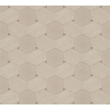AS Création grafische Mustertapete Urban Life Tapete beige metallic 326592 10,05 m x 0,53 m