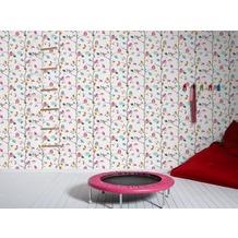 """AS Création Kids Party Mustertapete """"Sweet little Owl`s"""", Papiertapete, bunt, gelb, grün 10,05 m x 0,53 m"""