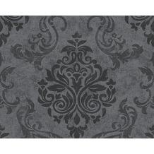 AS Création neobarocke Mustertapete Memory 3 Vliestapete grau metallic schwarz 953723 10,05 m x 0,53 m