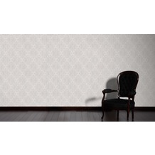 AS Création klassische Mustertapete mit Glitter Midlands Vliestapete grau metallic 10,05 m x 0,53 m