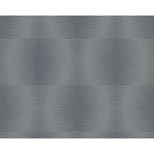 AS Création Muster-, Strukturtapete Cocoon, Vliestapete, grau, schwarz 957595