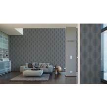 AS Création Muster-, Strukturtapete Cocoon, Vliestapete, grau, schwarz