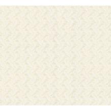 AS Création Mustertapete April Vliestapete creme grau metallic 10,05 m x 1,06 m