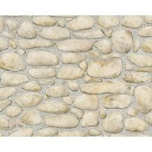 AS Création Mustertapete Dekora Natur, Papiertapete, telegrau ockerbraun perlweiß 834515 10,05 m x 0,53 m