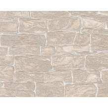 AS Création Mustertapete Dekora Natur, Strukturprofiltapete, signalweiß 343826 10,05 m x 0,53 m