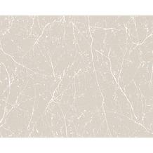 AS Création Mustertapete Elegance 3, Vliestapete, beige, weiß 305074 10,05 m x 0,53 m