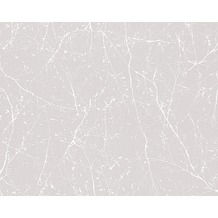 AS Création Mustertapete Elegance 3, Vliestapete, grau, weiß 305071 10,05 m x 0,53 m