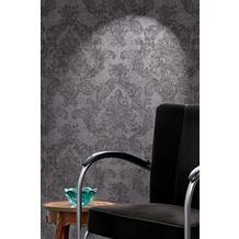 AS Création Mustertapete Elegance 3, Vliestapete, grau, schwarz 10,05 m x 0,53 m
