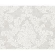 AS Création Mustertapete Elegance 3, Vliestapete, grau, weiß 305183 10,05 m x 0,53 m