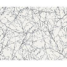 AS Création Mustertapete Elegance 3, Vliestapete, schwarz, weiß 305073 10,05 m x 0,53 m