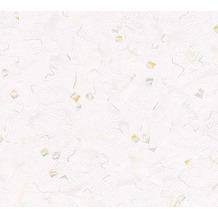 AS Création Mustertapete Essentials Papiertapete Tapete grün metallic weiß 10,05 m x 0,53 m