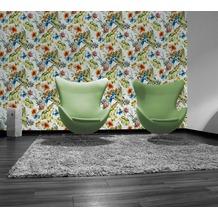 AS Création florale Mustertapete Simply Decor Tapete blau bunt 10,05 m x 0,53 m