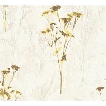 AS Création Mustertapete Free Nature Vliestapete beige braun gelb 343981 10,05 m x 0,53 m