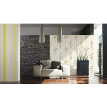 AS Création Mustertapete Free Nature Vliestapete beige braun gelb 10,05 m x 0,53 m