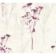 AS Création Mustertapete Free Nature Vliestapete beige braun lila 343982 10,05 m x 0,53 m