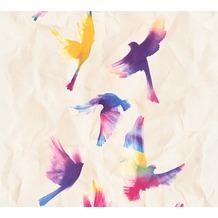 AS Création Mustertapete Free Nature Vliestapete beige bunt 343962 10,05 m x 0,53 m