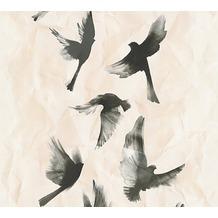 AS Création Mustertapete Free Nature Vliestapete beige schwarz 343963 10,05 m x 0,53 m