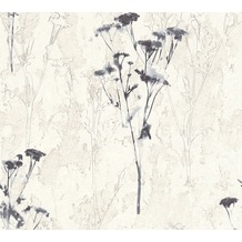 AS Création Mustertapete Free Nature Vliestapete grau weiß 343984 10,05 m x 0,53 m