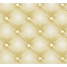 AS Création Mustertapete Hermitage 10 grün metallic weiß 341445 10,05 m x 0,53 m