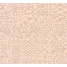 AS Création Mustertapete im Ethno-Look Happy Spring Vliestapete beige braun orange 341453 10,05 m x 0,53 m