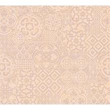 AS Création Mustertapete im Ethno-Look Happy Spring Vliestapete beige braun orange 341453