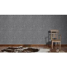 AS Création Mustertapete im Ethno-Look Happy Spring Vliestapete grau schwarz 10,05 m x 0,53 m