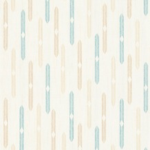 AS Création Mustertapete im skandinavischen Stil Björn Vliestapete beige blau creme 351192 10,05 m x 0,53 m