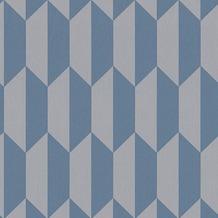 AS Création Mustertapete im skandinavischen Stil Björn Vliestapete blau grau 349002 10,05 m x 0,53 m