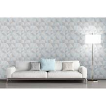 AS Création Mustertapete im skandinavischen Stil Björn Vliestapete blau grau 10,05 m x 0,53 m