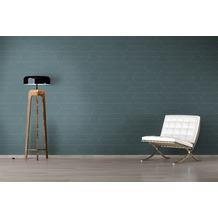 AS Création Mustertapete im skandinavischen Stil Björn Vliestapete blau metallic 10,05 m x 0,53 m